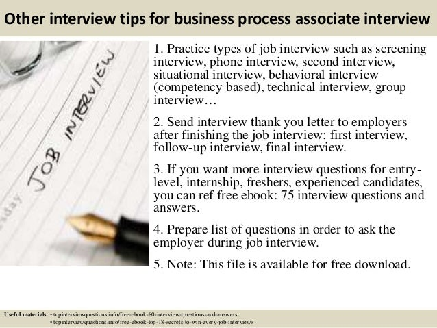 16 other interview tips for business process associate - The Interview Process Job Interview Process 4 Interview Stages