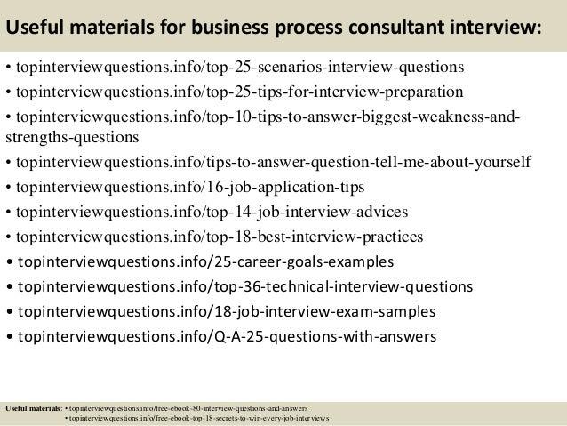 business process consultant business process management questions