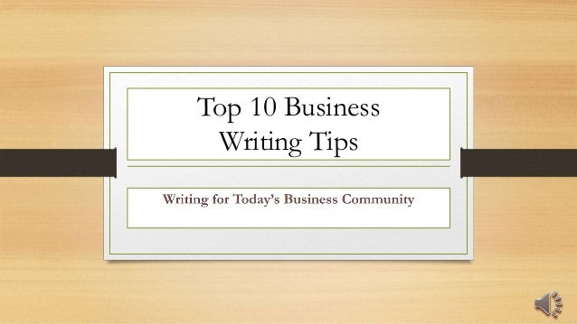 Top 10 Tips for Writing Your Business Plan