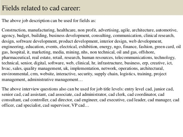 Top 10 cad interview questions and answers