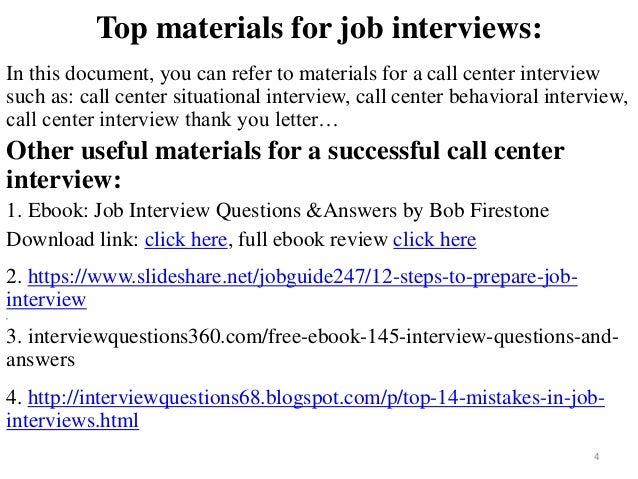 ... Center Interview; 4.