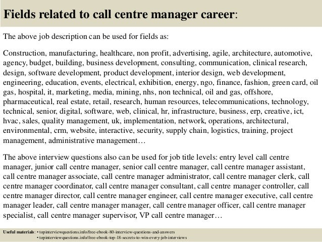 Charming ... 17. Fields Related To Call Centre Manager Career: The Above Job  Description ...  Call Center Manager Job Description