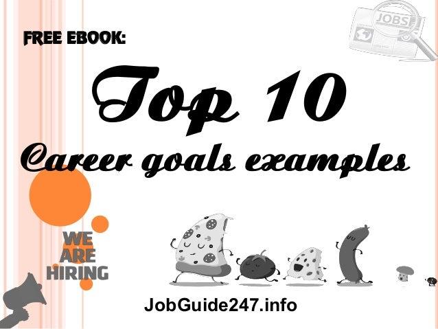 career goals examples
