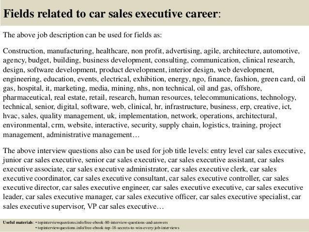 auto sales manager job description