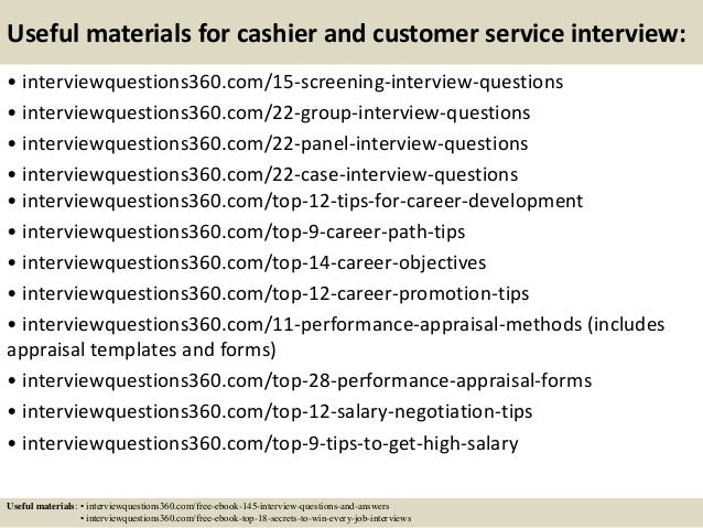 Top 10 Cashier And Customer Service Interview Questions And Answers