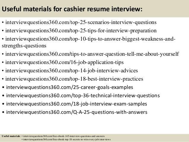 good cashier resumes