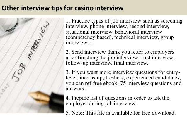 Casino dealer interview four winns casino