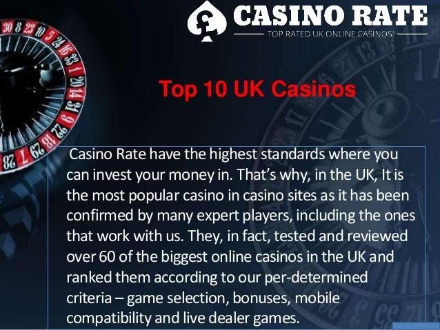 list of casino slots