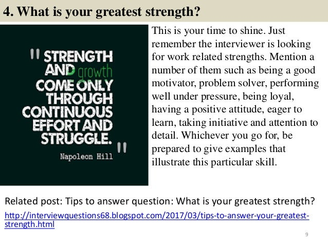 8 9 4 what is your greatest strength