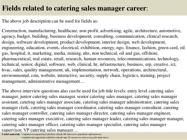 Top 10 Catering Sales Manager Interview Questions And Answers