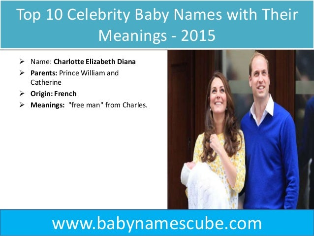 Top 10 Celebrity Baby Names with their Meanings 2015