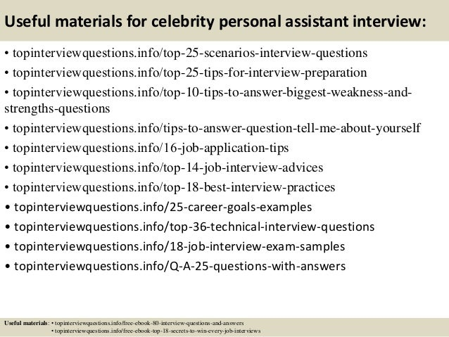 Top 10 celebrity personal assistant interview questions and
