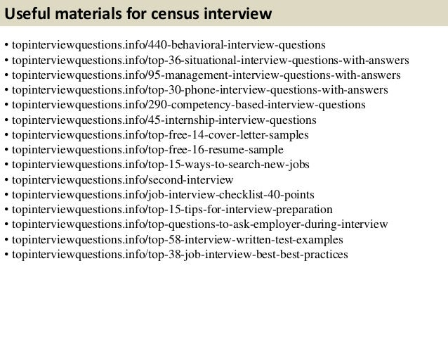 11. Useful Materials For Census ...
