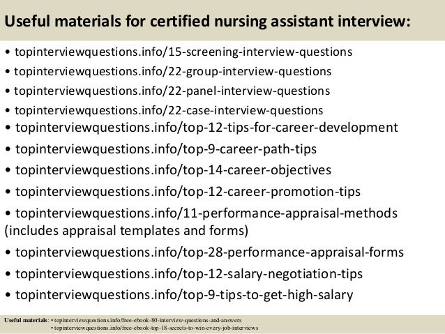 Captivating ... 15. Useful Materials For Certified Nursing Assistant Interview: ...