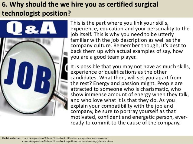 Top 10 certified surgical technologist interview questions and answers