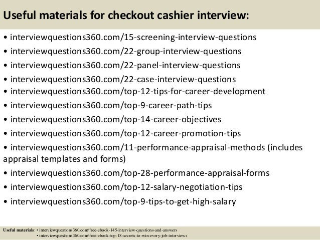 Top 10 Checkout Cashier Interview Questions And Answers