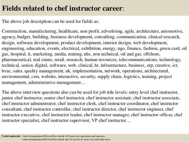 cooking instructor job description kitchen assistant job ...