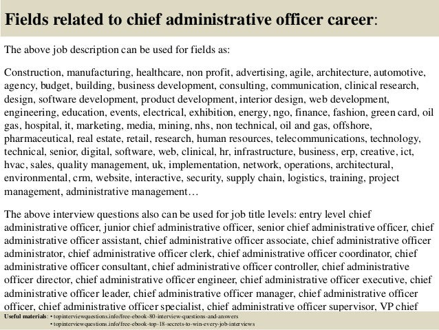 chief administrator resume | Template