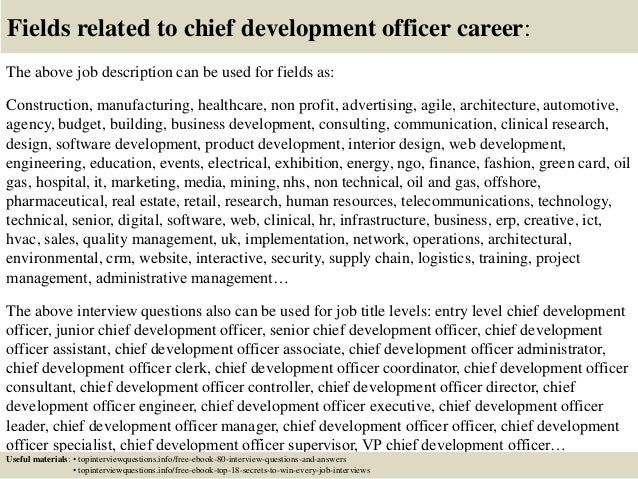 Top 10 chief development officer interview questions and answers