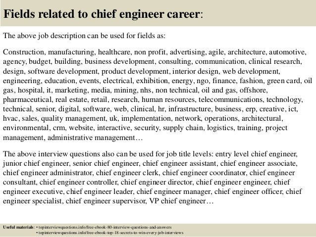 Top 10 Chief Engineer Interview Questions And Answers