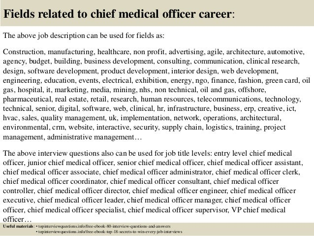 Top  Chief Medical Officer Interview Questions And Answers