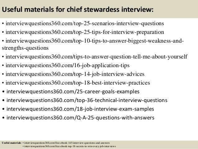 Top 10 chief stewardess interview questions and answers