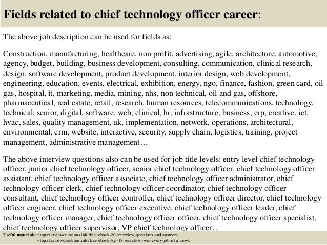 Top 10 chief technology officer interview questions and answers – Cto Job Description