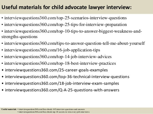 14 useful materials for child advocate