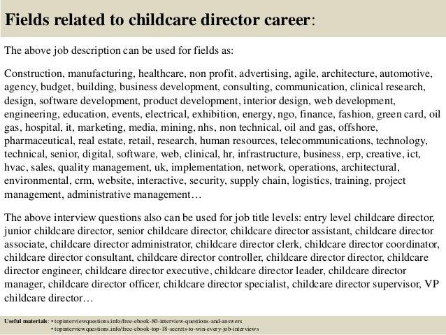day care assistant job description