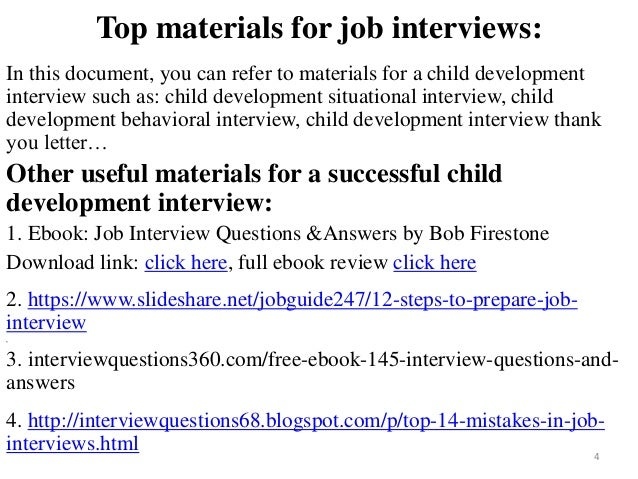 80 child development interview questions and answers fandeluxe Choice Image