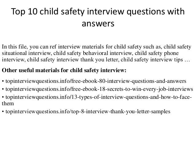Top 10 child safety interview questions with answers top 10 child safety interview questions with answers in this file you can ref interview fandeluxe Gallery