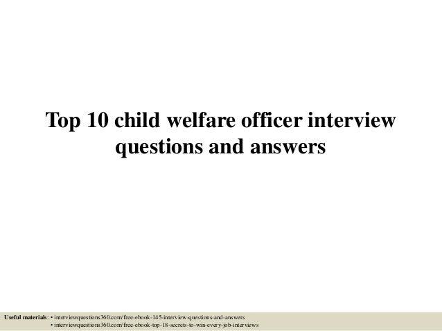 child welfare officer