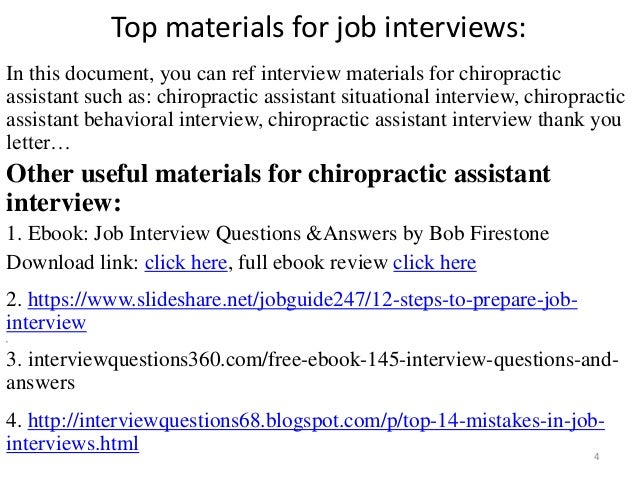 Top 52 chiropractic assistant interview questions and answers pdf