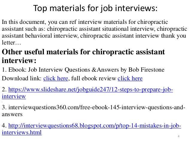 chiropractic assistant interview 4 - Chiropractic Assistant Duties