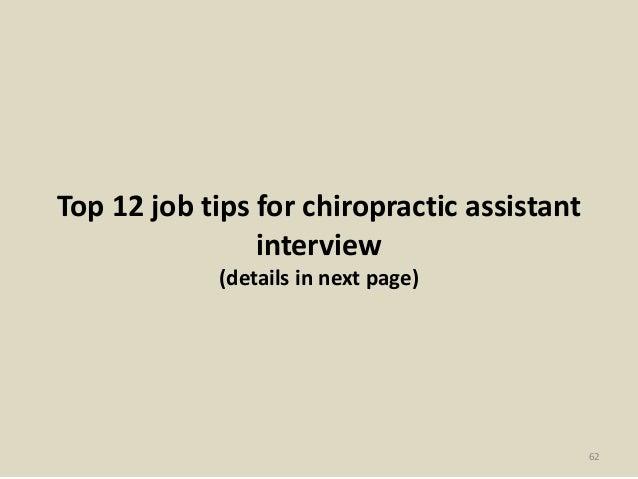 chiropractic assistant job description