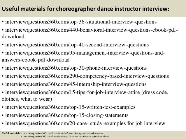 13 Useful Materials For Choreographer