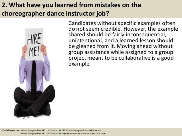 SlideShare  Dance Instructor Job Description