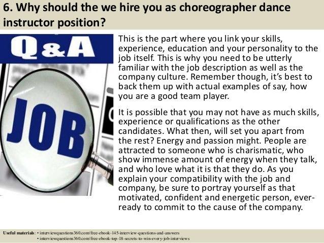 ... 8. 6.  Dance Instructor Job Description