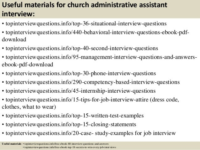 top 10 church administrative assistant interview questions