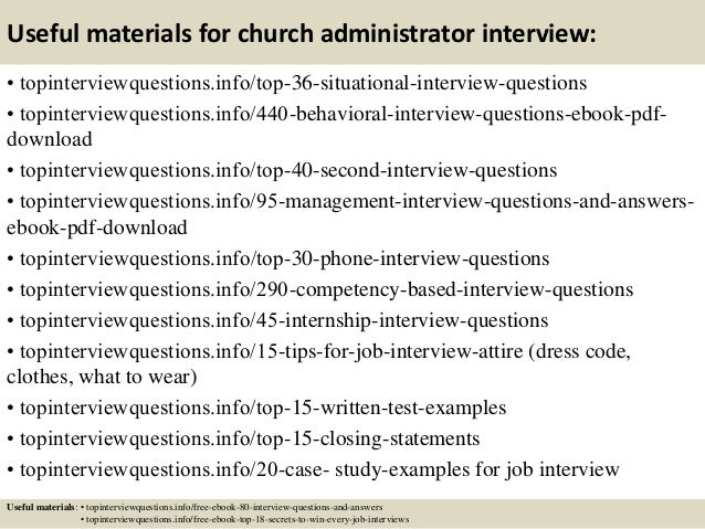 12 useful materials for church administrator - Church Administrator Salary