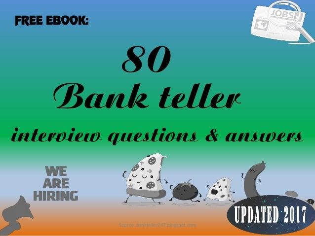 80 1 Bank Teller Interview Questions U0026 Answers FREE EBOOK: Source:  Bankteller247.blogspot ...