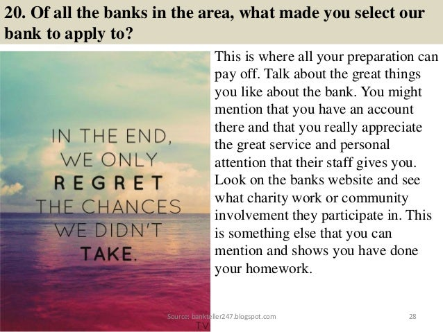80 bank teller interview questions and answers source bankteller247spot 28 20 of all the banks fandeluxe Choice Image