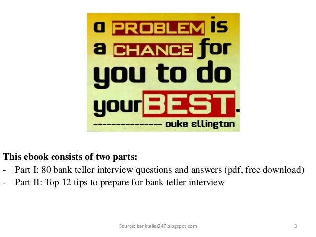 80 bank teller interview questions and answers fandeluxe Choice Image