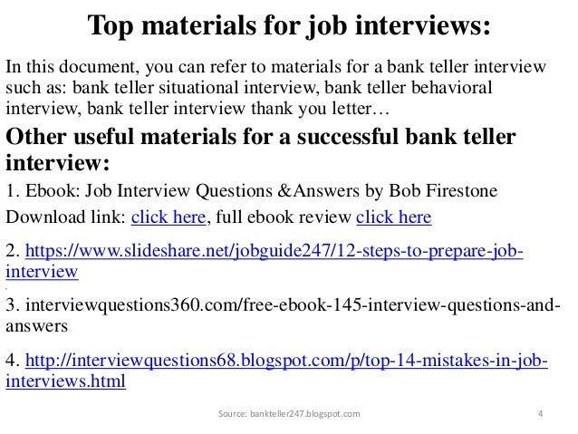 bank teller interview source bankteller247blogspotcom 4 - Bank Teller Interview Questions And Answers