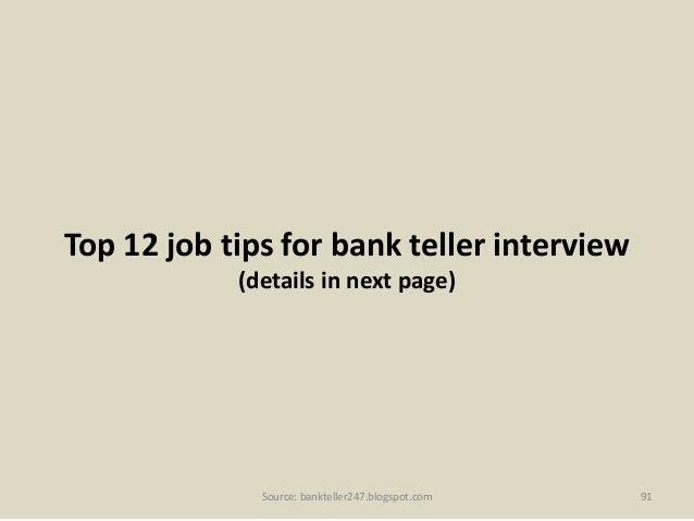 teller interview questions and answers pdf