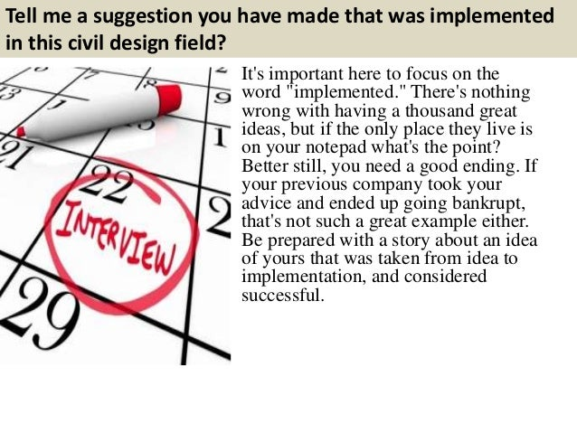 Top 10 Civil Design Interview Questions With Answers