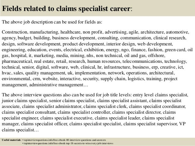 Top 10 Claims Specialist Interview Questions And Answers