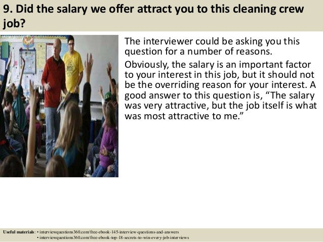 Top 10 cleaning crew interview questions and answers