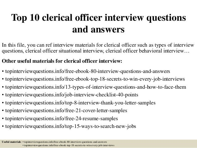 top 10 clerical officer interview questions and answers 1 638 jpg cb 1426556930