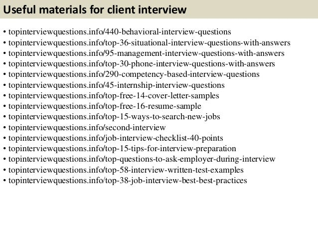 Top 10 Client Interview Questions With Answers
